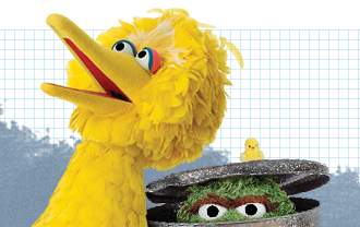 Big Bird and Oscar